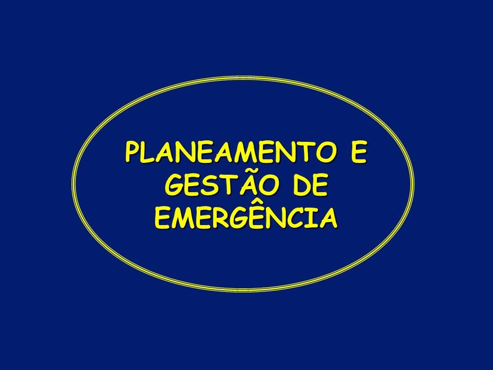 PLANEAMENTO E GESTÃO DE EMERGÊNCIA