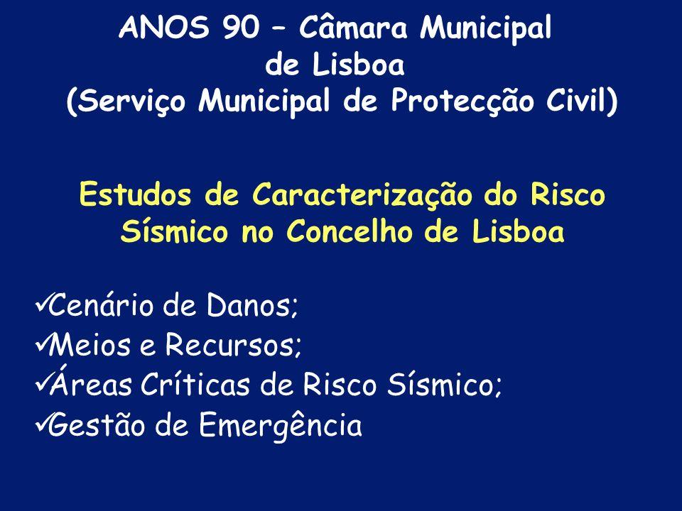 ANOS 90 – Câmara Municipal de Lisboa