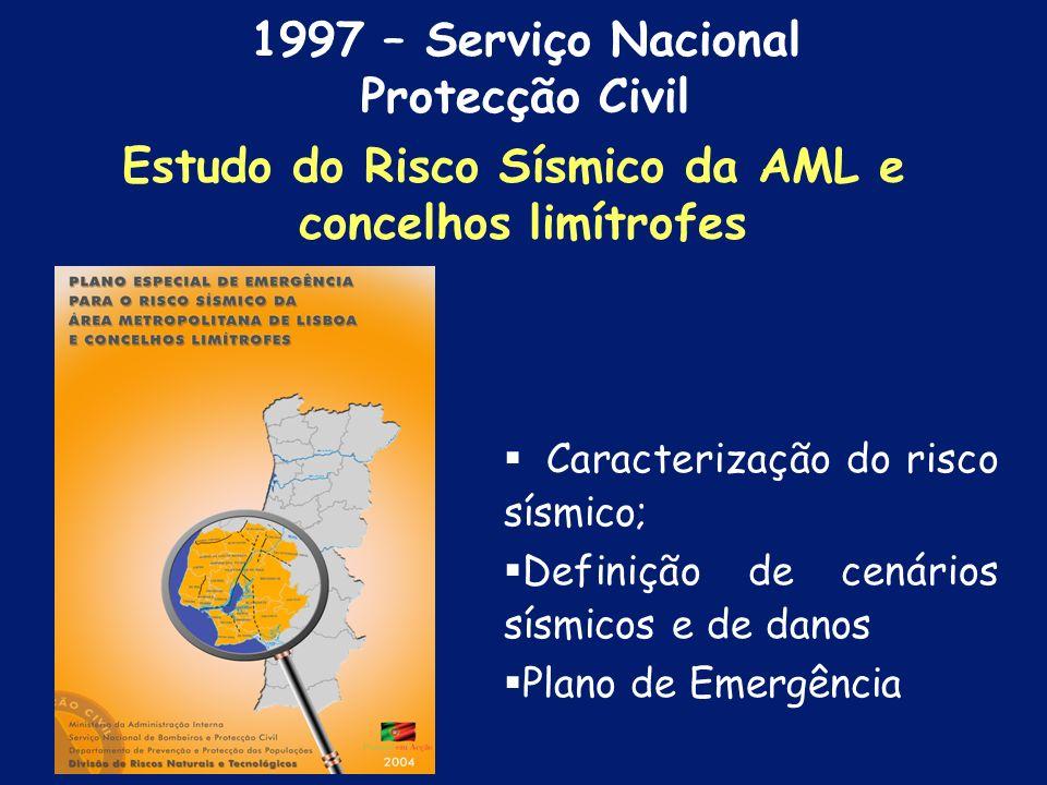 Estudo do Risco Sísmico da AML e
