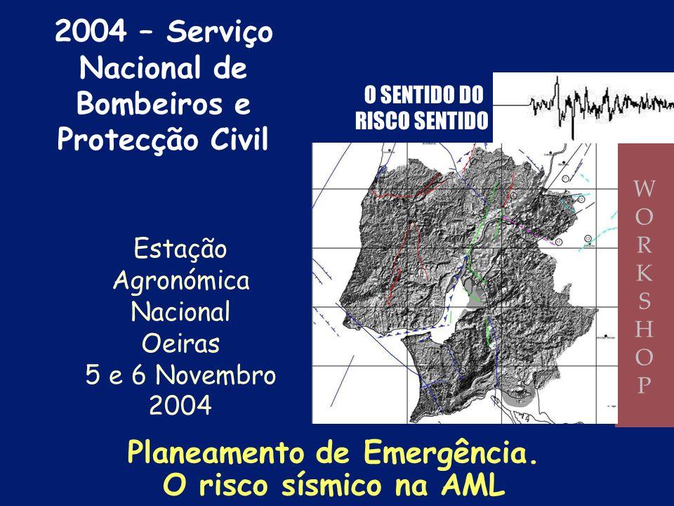 Bombeiros e Protecção Civil Planeamento de Emergência.