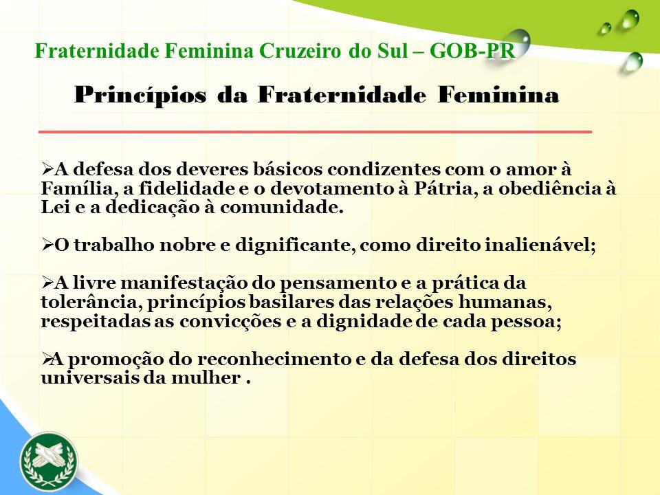 Princípios da Fraternidade Feminina