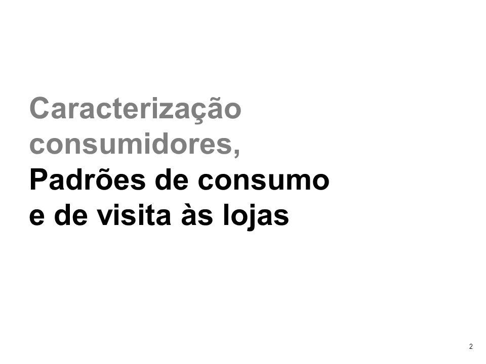 Caracterização consumidores,