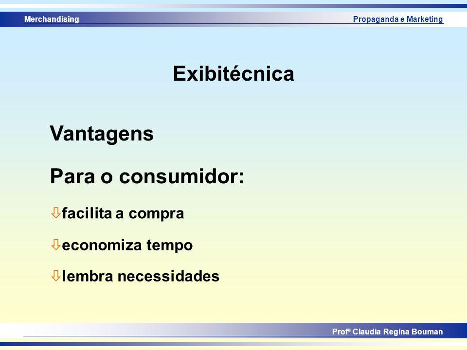 Exibitécnica Vantagens Para o consumidor: facilita a compra