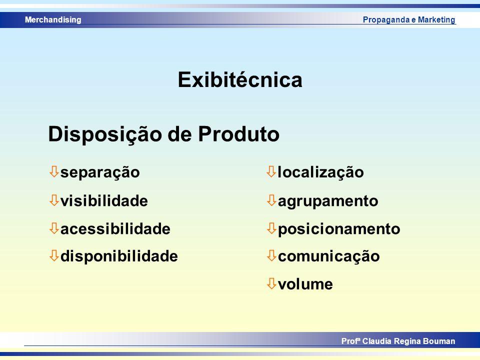 Exibitécnica Disposição de Produto separação localização visibilidade