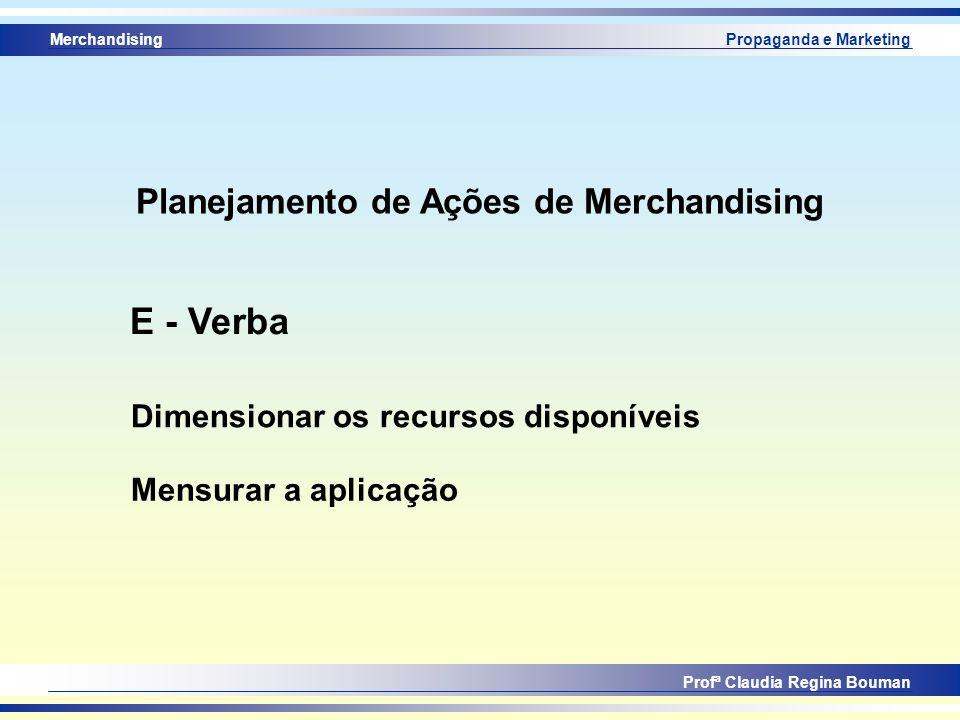 Planejamento de Ações de Merchandising