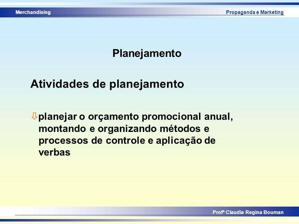 Atividades de planejamento
