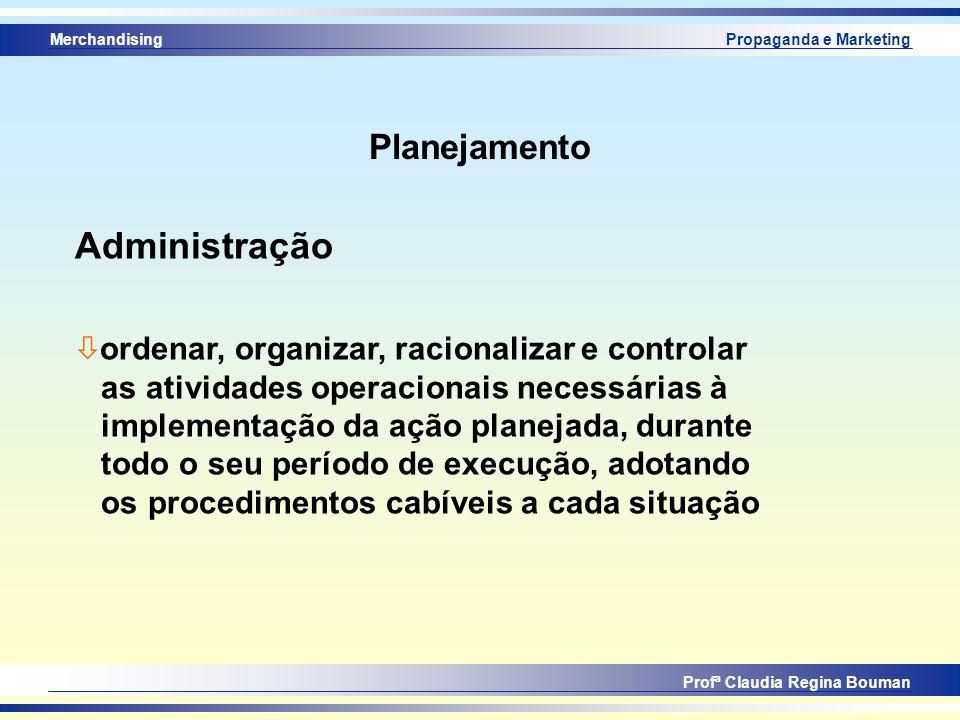 Administração Planejamento