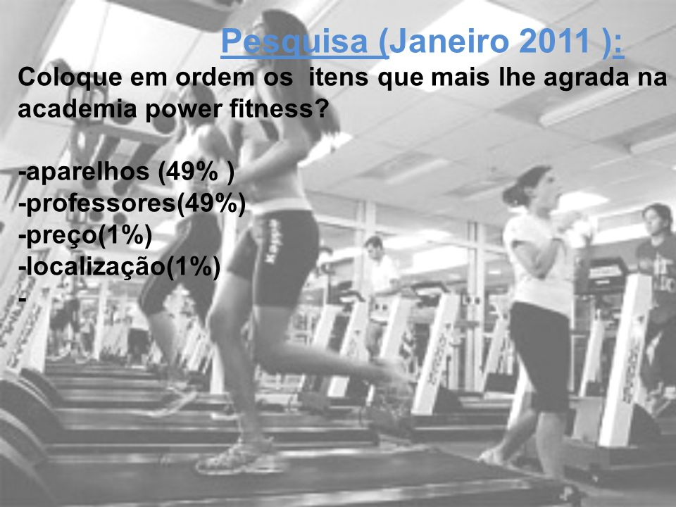 Young Fit Pesquisa (Janeiro 2011 ):