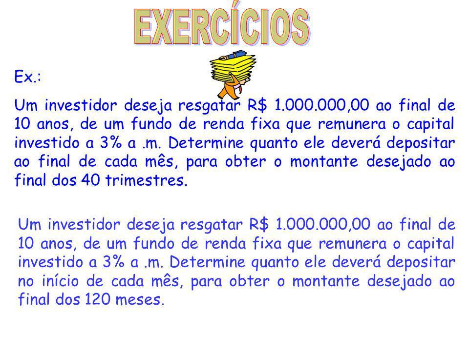 EXERCÍCIOS Ex.: