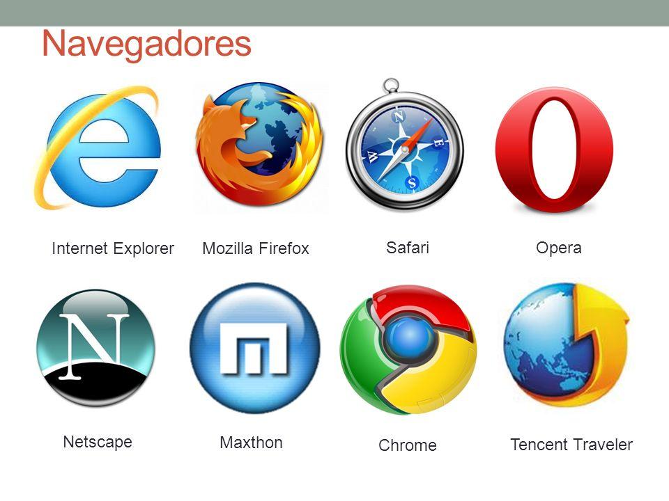 Navegadores Internet Explorer Mozilla Firefox Safari Opera Netscape