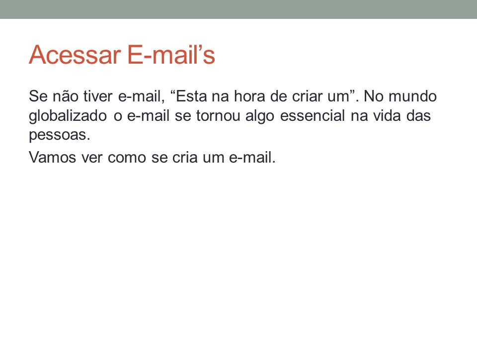 Acessar E-mail's