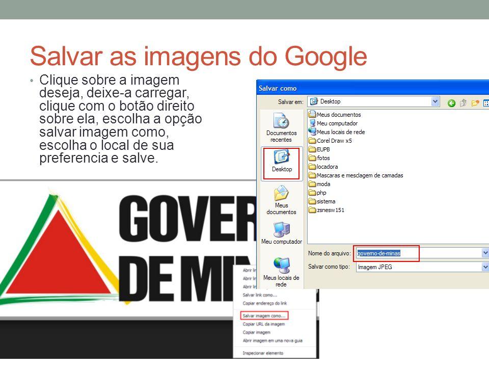 Salvar as imagens do Google