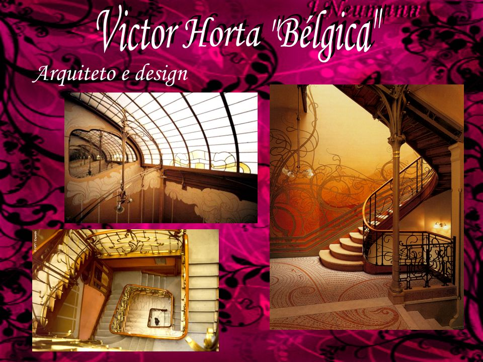 Victor Horta Bélgica Arquiteto e design