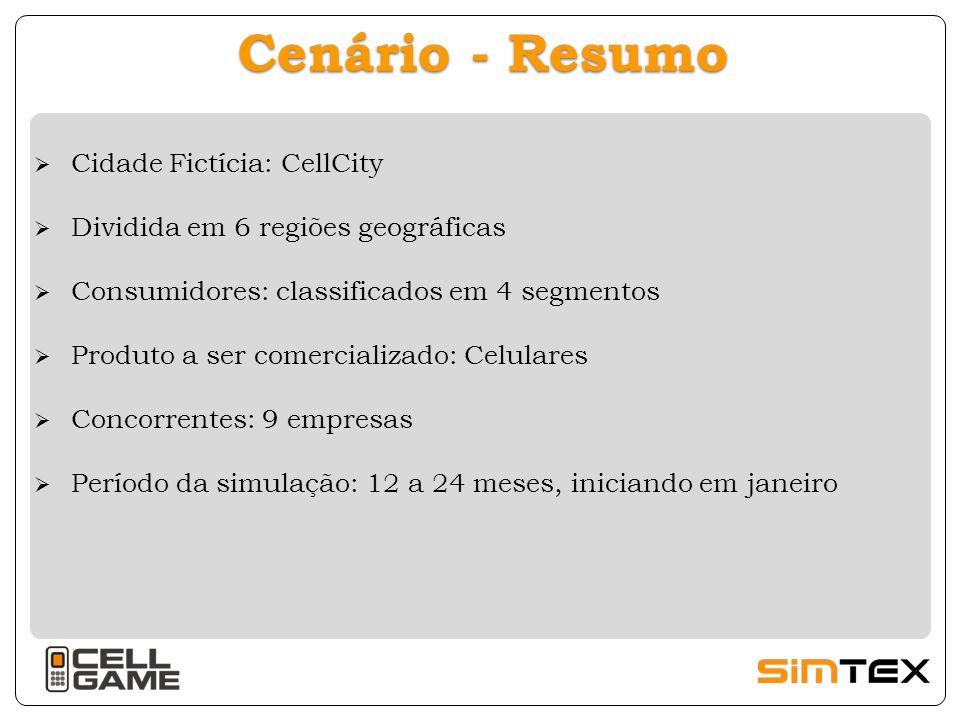 Cenário - Resumo Cidade Fictícia: CellCity