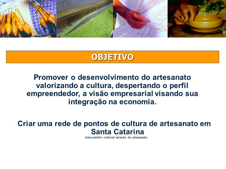 OBJETIVO Promover o desenvolvimento do artesanato