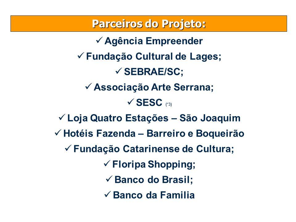 Parceiros do Projeto: Agência Empreender Fundação Cultural de Lages;