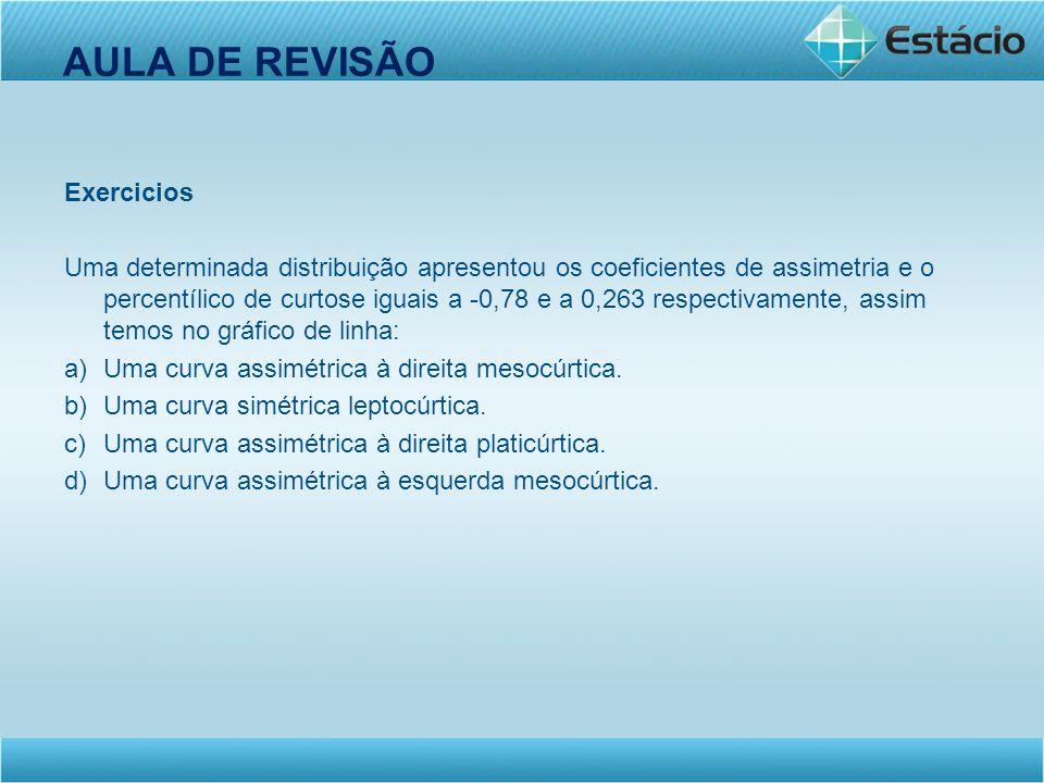 AULA DE REVISÃO Exercicios
