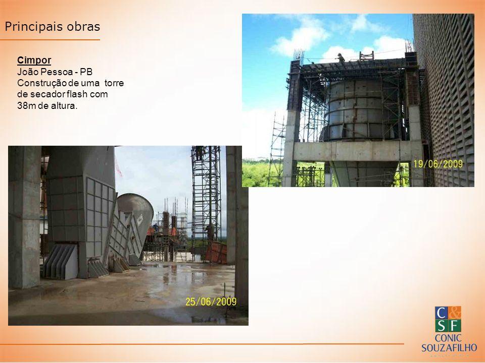 Principais obras Cimpor João Pessoa - PB Construção de uma torre