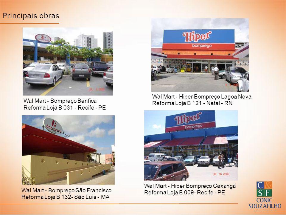 Principais obras Wal Mart - Hiper Bompreço Lagoa Nova