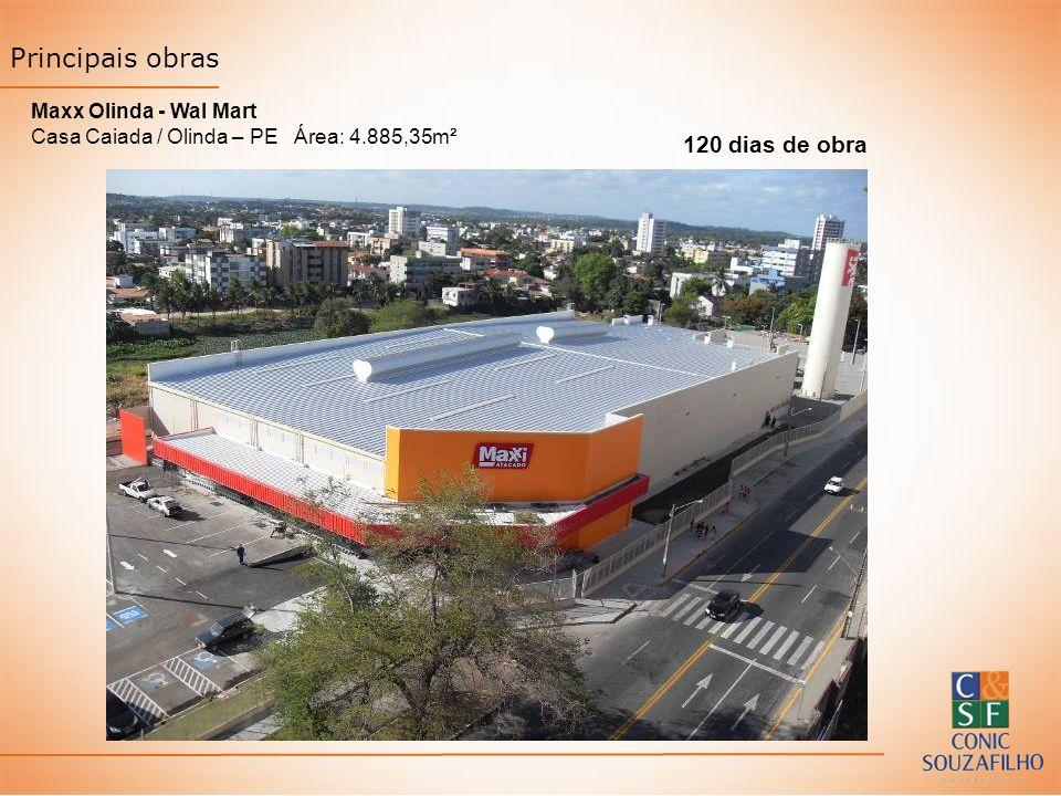 Principais obras 120 dias de obra Maxx Olinda - Wal Mart