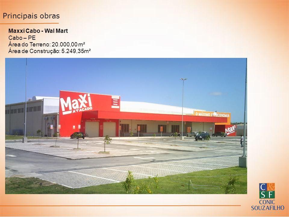 Principais obras Maxxi Cabo - Wal Mart Cabo – PE