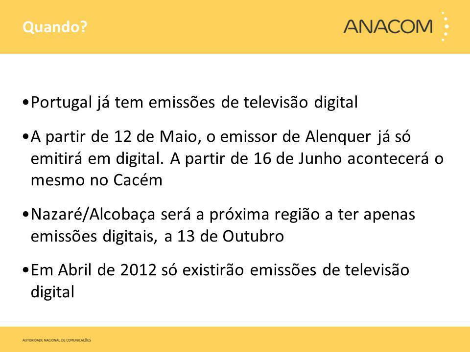 Portugal já tem emissões de televisão digital