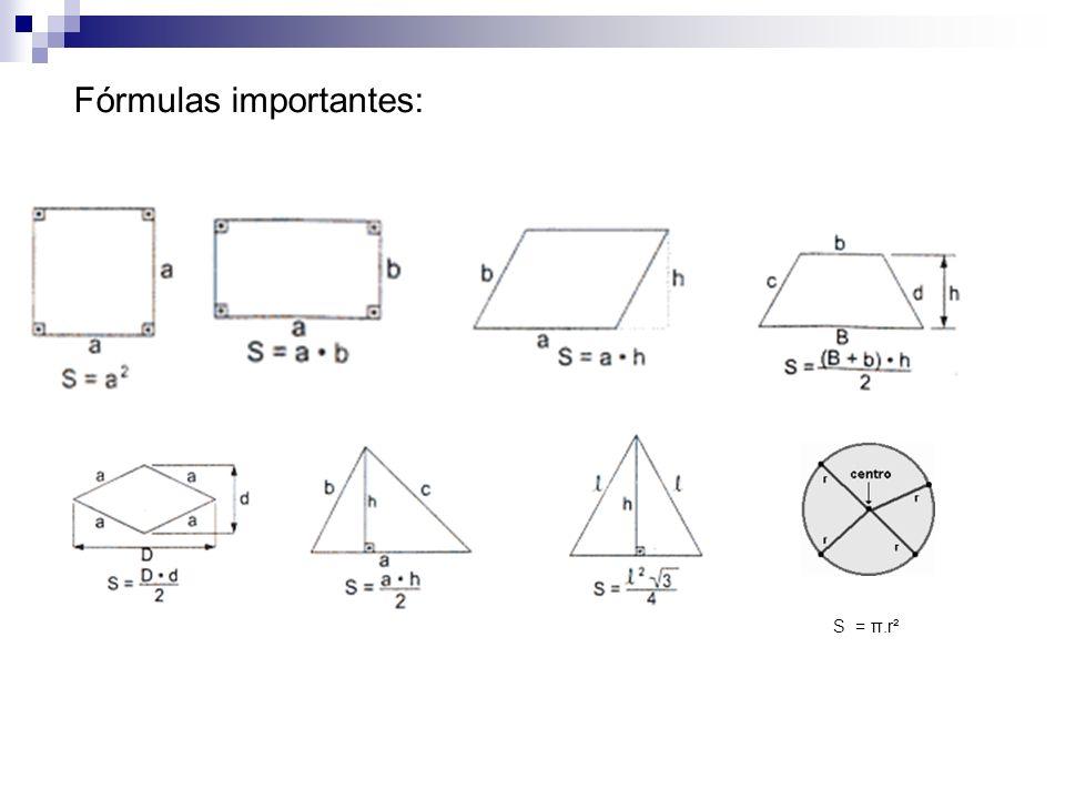 Fórmulas importantes: