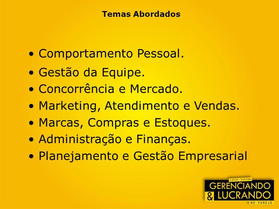 Comportamento Pessoal. Gestão da Equipe. Concorrência e Mercado.