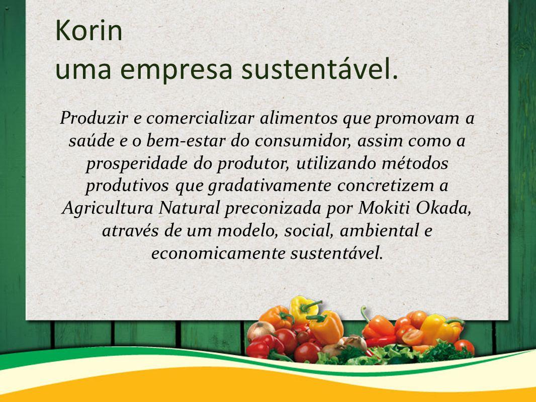 Korin uma empresa sustentável.