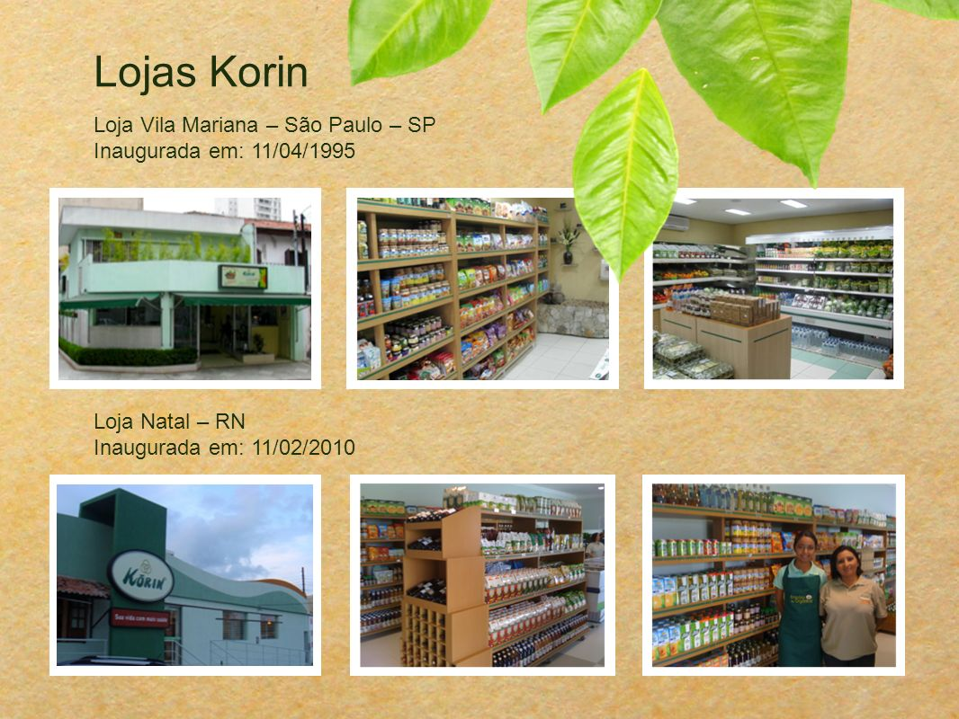 Lojas Korin Loja Vila Mariana – São Paulo – SP Inaugurada em: 11/04/1995.