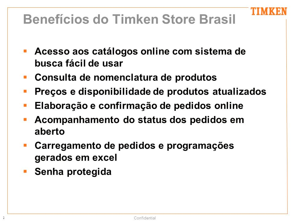 Benefícios do Timken Store Brasil