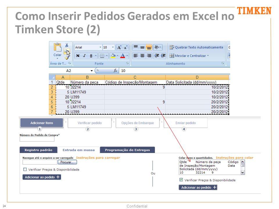 Como Inserir Pedidos Gerados em Excel no Timken Store (2)