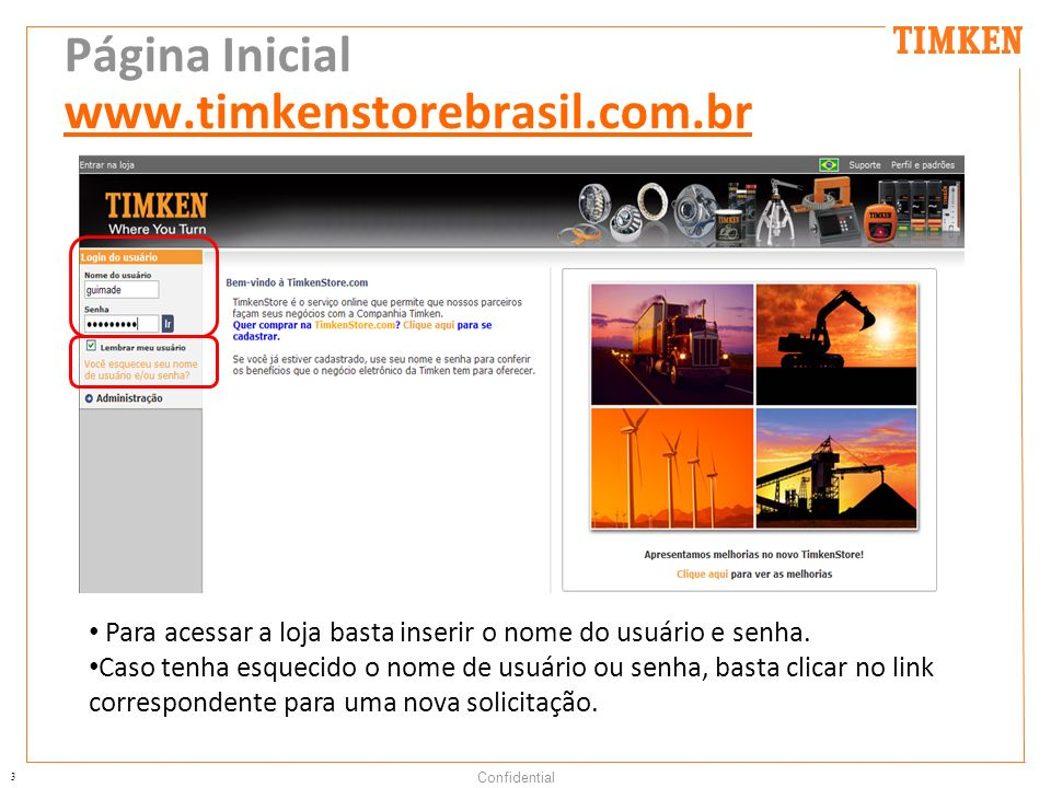 Página Inicial www.timkenstorebrasil.com.br
