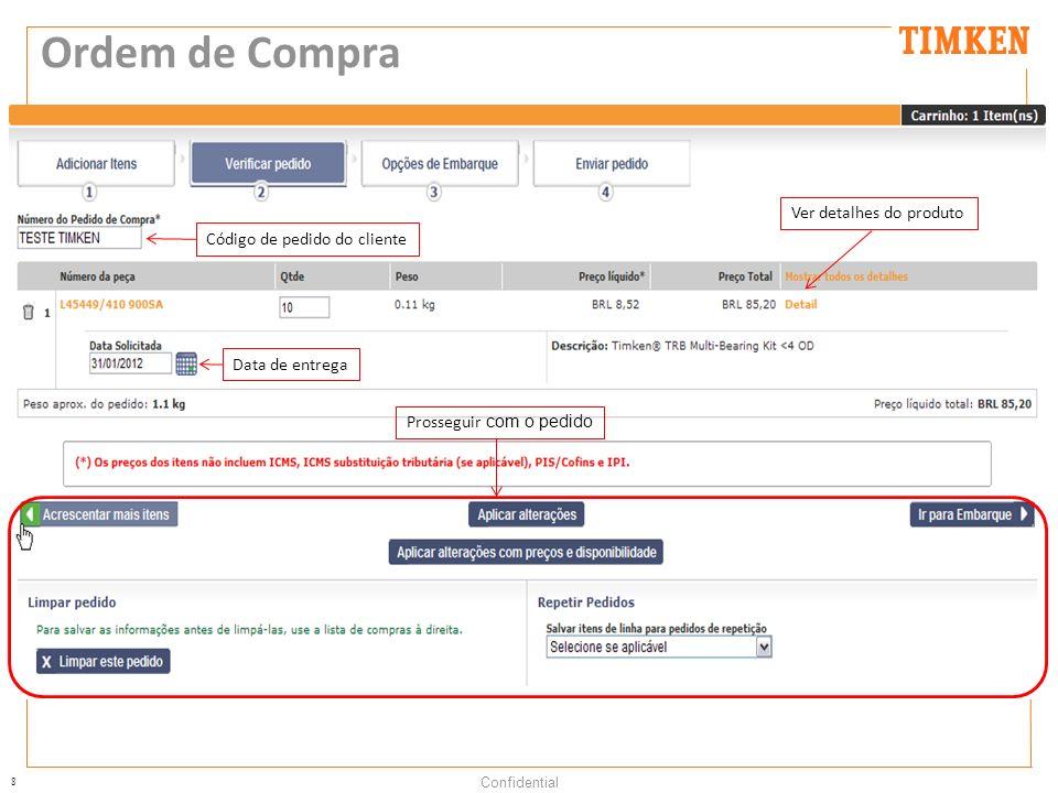 Ordem de Compra Ver detalhes do produto Código de pedido do cliente