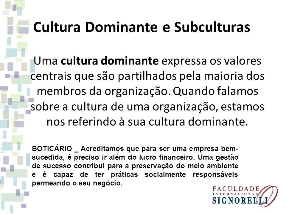 Cultura Dominante e Subculturas