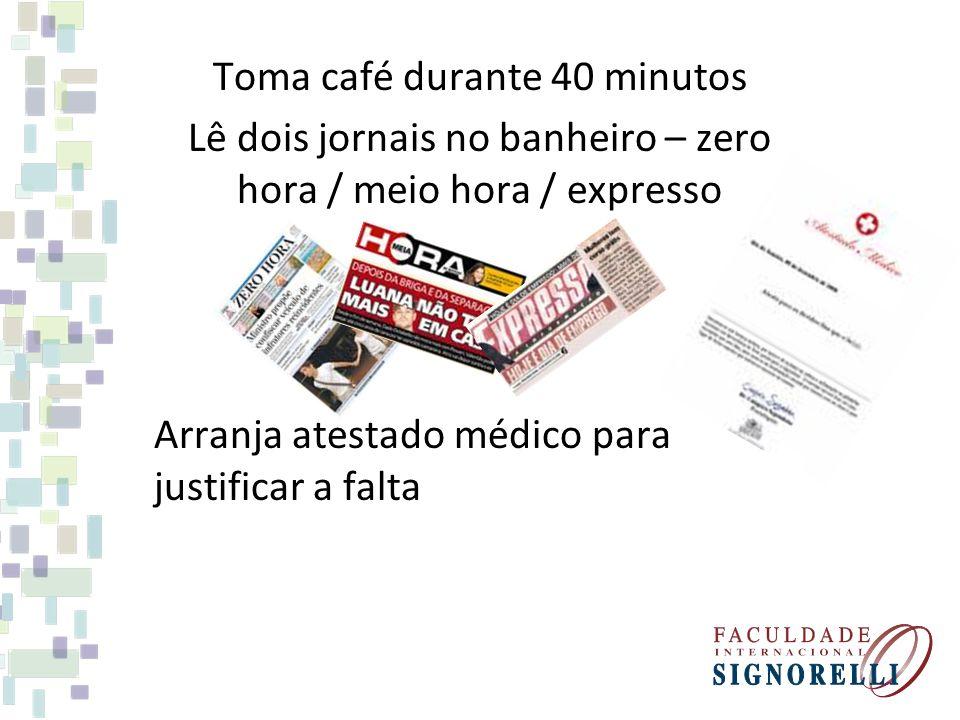 Toma café durante 40 minutos