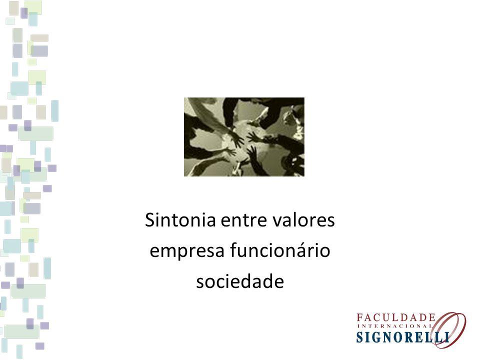 Sintonia entre valores empresa funcionário sociedade