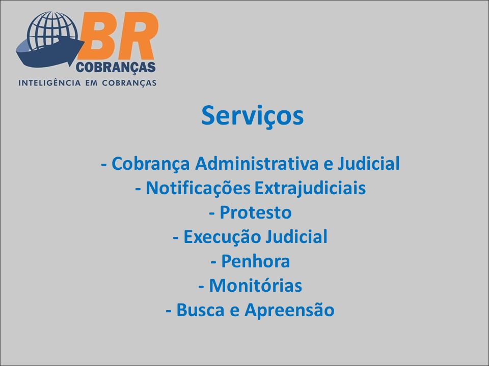 - Cobrança Administrativa e Judicial - Notificações Extrajudiciais