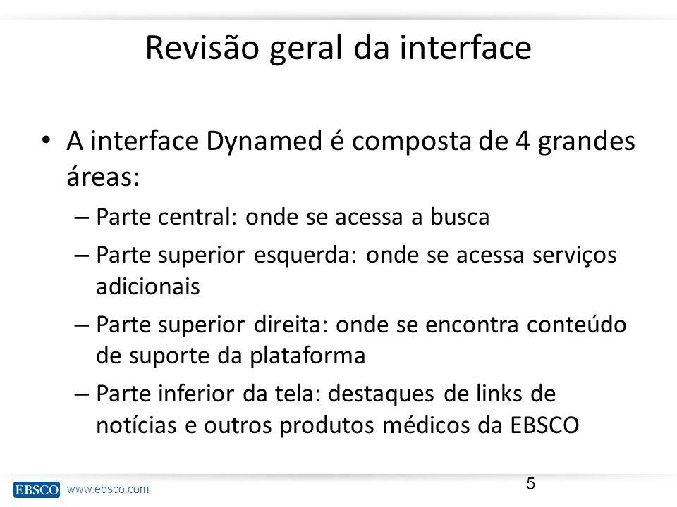 Revisão geral da interface