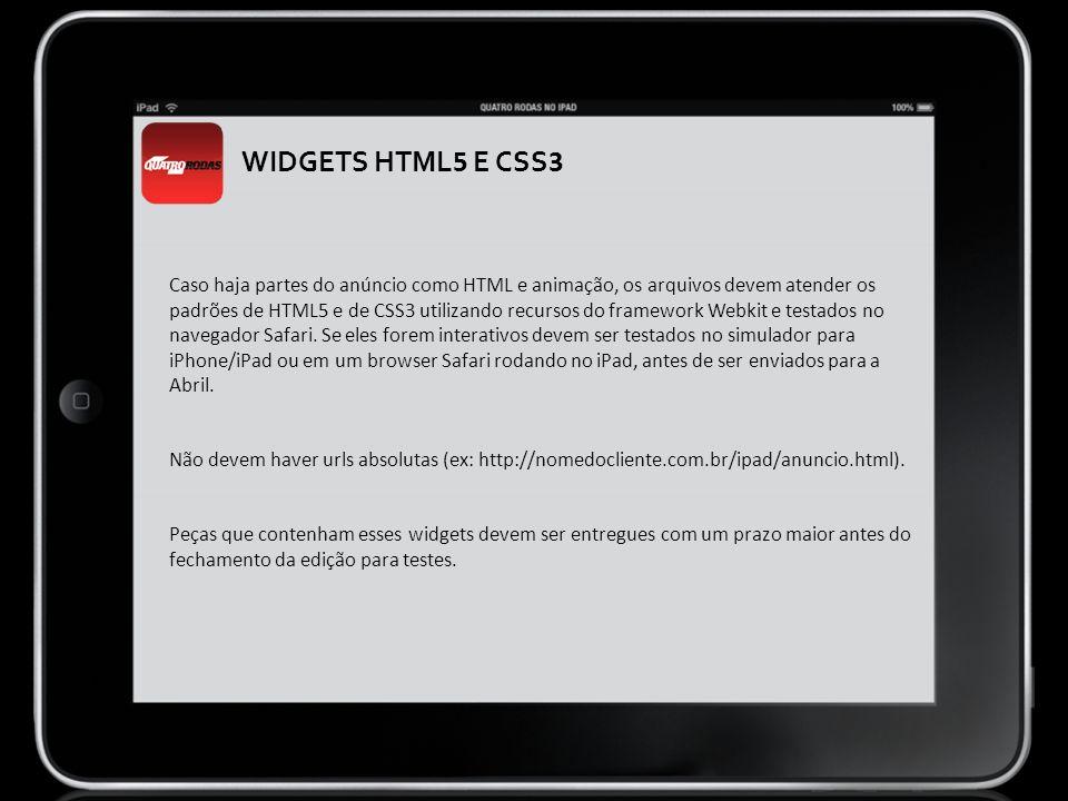 WIDGETS HTML5 E CSS3