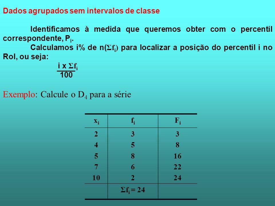 Exemplo: Calcule o D4 para a série