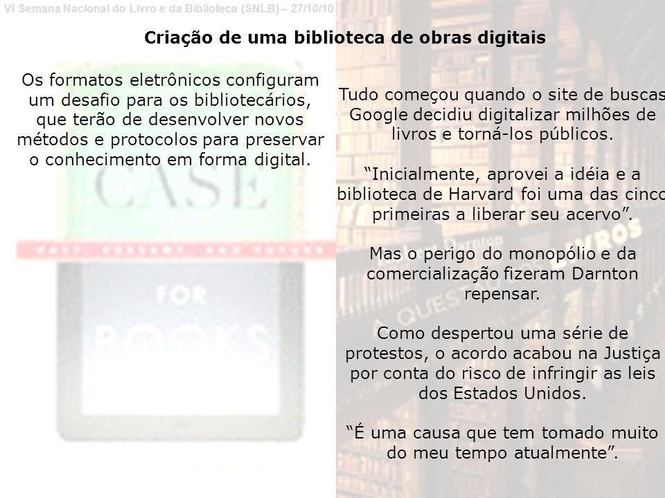 Criação de uma biblioteca de obras digitais