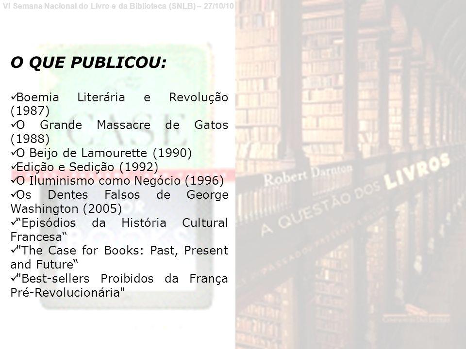 O QUE PUBLICOU: Boemia Literária e Revolução (1987)
