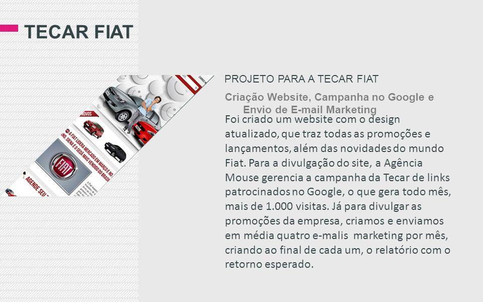 Tecar fiat Projeto para a tecar Fiat. Criação Website, Campanha no Google e Envio de E-mail Marketing.