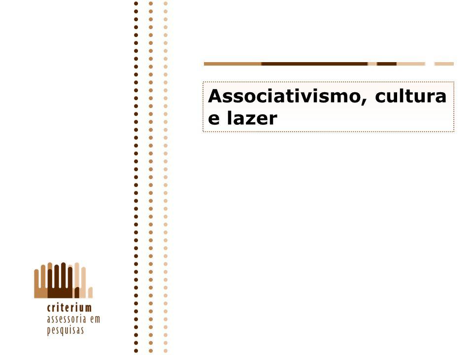 Associativismo, cultura e lazer