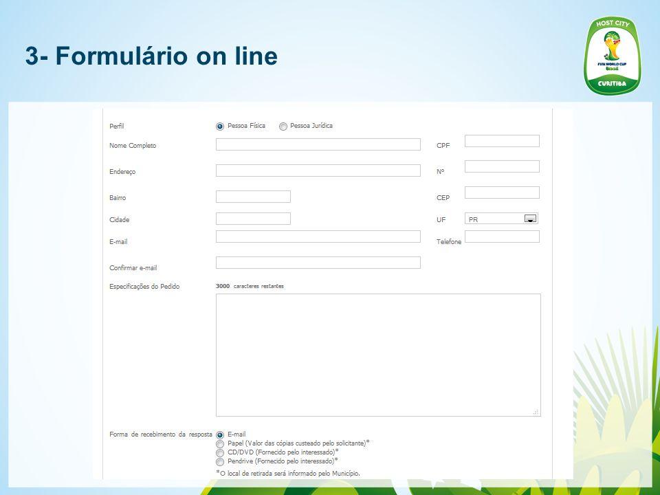 3- Formulário on line