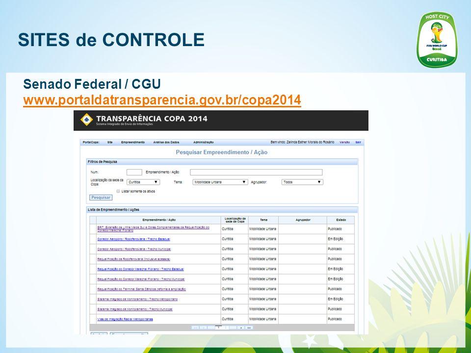 SITES de CONTROLE Senado Federal / CGU