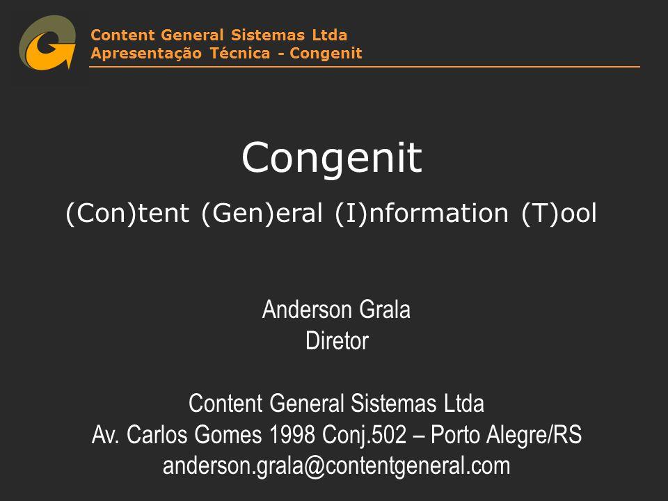 Congenit (Con)tent (Gen)eral (I)nformation (T)ool Anderson Grala