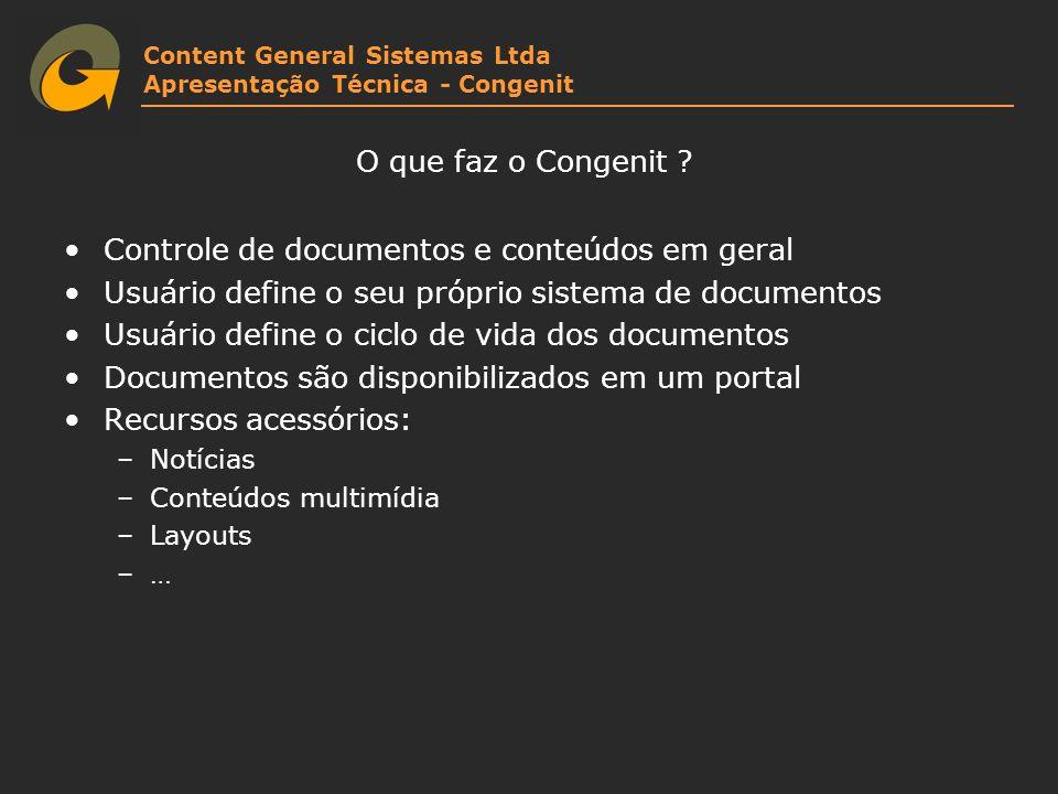 Controle de documentos e conteúdos em geral