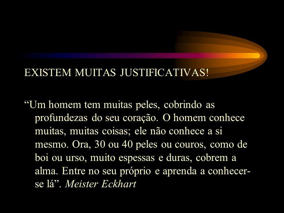 EXISTEM MUITAS JUSTIFICATIVAS
